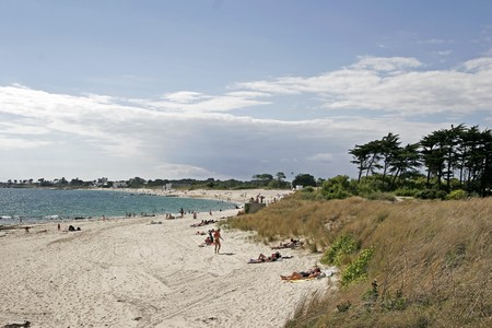 Sand beach, Larmor-Plage, Brittany, Northern France