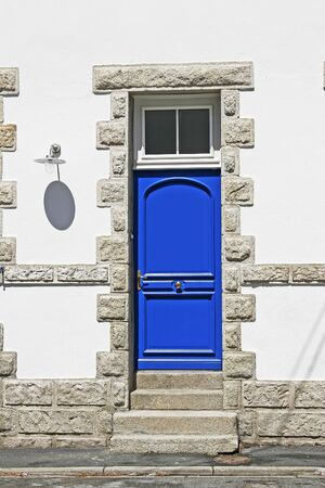 Blue door in Larmor-Plage, Brittany, Northern France