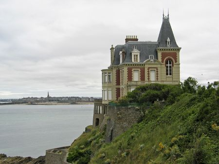 Villa near Dinard, Brittany, Northern France Stock Photo