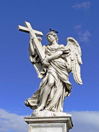 Rome, Aelian Bridge with angels, Italy, Europe