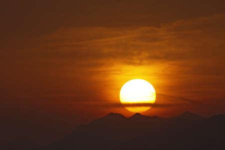 veneto: Sunset at Lazise at Lake Garda, Veneto, Italy, Europe Stock Photo