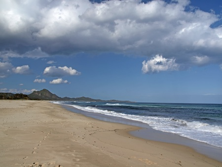 rei: The Costa Rei is one of the most beautiful beaches in the southeast of Sardinia, Italy, Europe