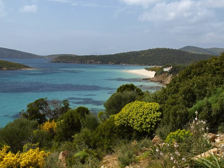 Landscape at the Costa Del Sud, South Sardinia, Italy, Europe