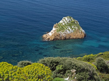 Rocks near Masua in Southwest Sardinia, Italy, Europe photo