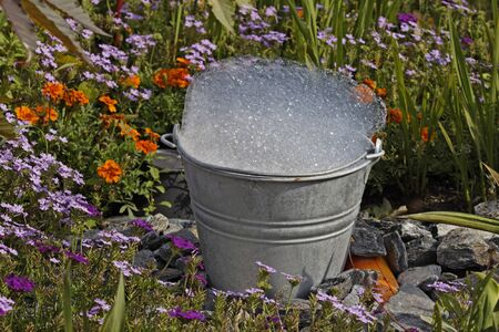 Bucket with foam in Germany, Europe