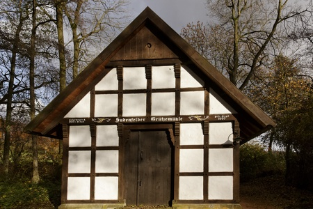 half timbered: Gellenbecker mill in Hagen, Lower Saxony, Germany