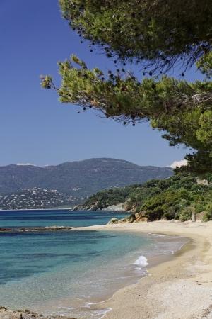 Gigaro пляж недалеко от города La Croix Volmer, Лазурном берегу, Французская Ривьера, Прованс, на юге Франции, Европе