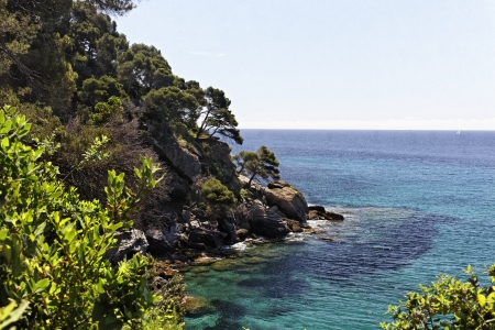 Canadel-sur-Mer, french Mediterranean coast, French Riviera, Provence, Southern France, Europe Stock Photo