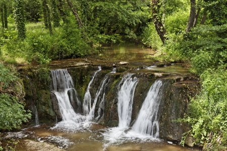 Waterfall, Massif des Maures, Provence, Southern France, Europe photo