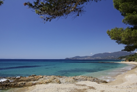 Gigaro beach near the city La Croix Volmer, French Riviera, Provence, Southern France, Europe