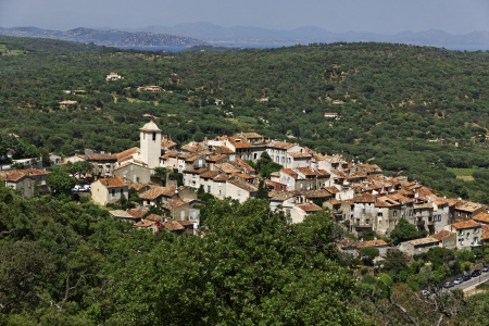 Mountain village of Ramatuelle nearby Saint Tropez, French Riviera, Provence, Southern France, Europe