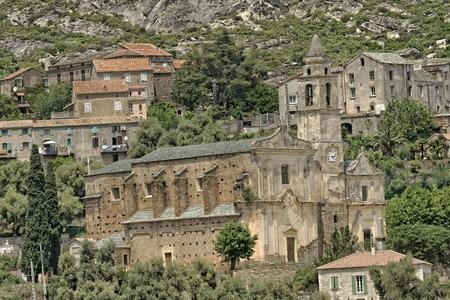 Santo Pietro di Tenda, Church Santo Pietro, baroque church Saint-Jean-Evangeliste, Northern Corsica, France