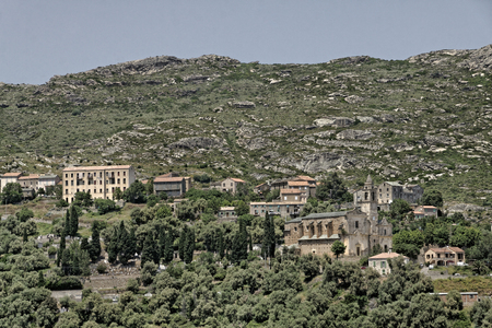 Santo Pietro di Tenda  Santu Petru di Tenda , mountain village in Northern Corsica, France, Europe Imagens - 26284414