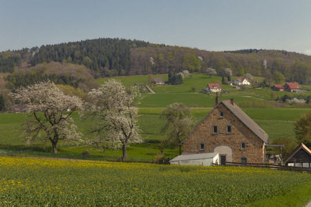 Country house in Hagen, village in the Osnabrueck country, Lower Saxony, Germany