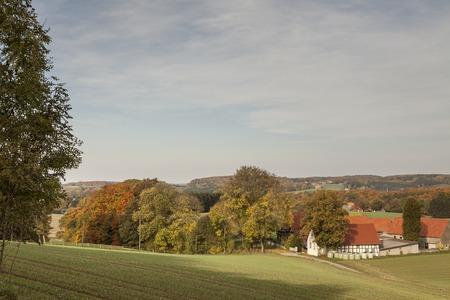 Farm in Borgloh, Osnabrueck country, Lower Saxony, Germany, Europe Stock Photo