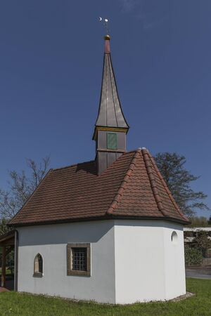 pains: The chapel to the seven pains of Marien in Hagen on the Teutoburg forest area Gellenbeck in the Osnabrck country was built in the style of a Swiss mountain chapel
