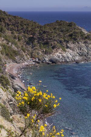 elba: Pomonte village at the west coast of Elba Tuscany Italy Stock Photo