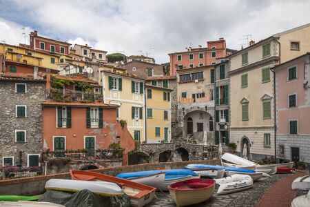 colourfully: Tellaro small boats at the harbour Liguria Italy Europe