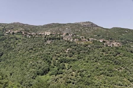 Santo Pietro di Tenda Santu Petru di Tenda, mountain village in Northern Corsica, France, Europe