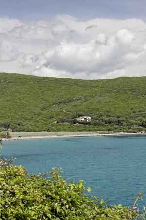 corse: Beach near Porticciolo at the East coast, Cap Corse, Corsica, France, Europe