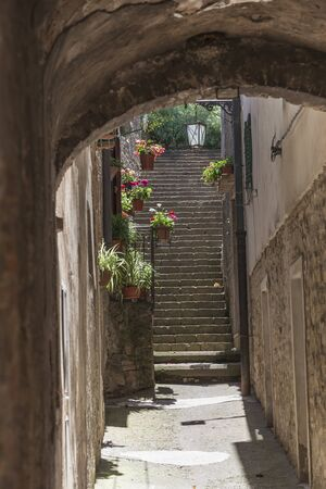 volterra: Volterra, Old Town Lane, Tuscany, Italy, Europe