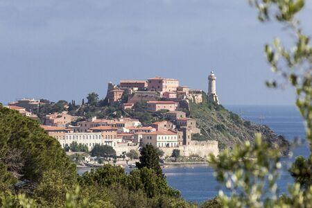 forte: Portoferraio, star fort Forte Stella on Elba Iceland, Tuscany, Italy, Europe