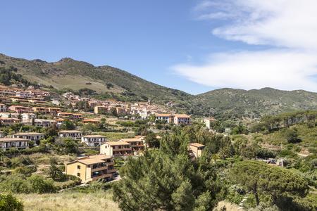 elba: Rio nell Elba, Village at a hill, Elba, Tuscany, Italy, Europe