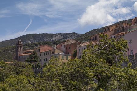 elba: Mountain village of Marciana, Elba Iceland, Tuscany, Italy, Europe Stock Photo