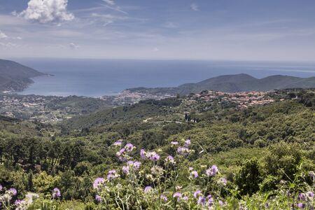 elba: San Piero, small mountain village, Elba, Tuscany, Italy, Europe Stock Photo
