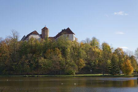 saxony: Bad Iburg castle in autumn, Osnabruecker Land, Lower Saxony, Germany Editorial