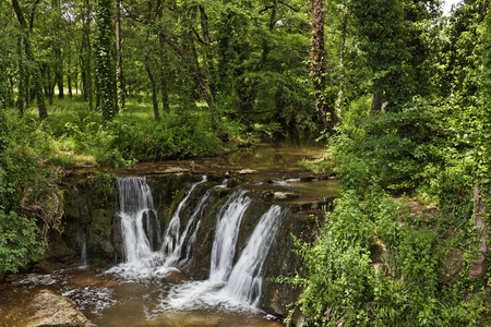 massif: Waterfall, Massif des Maures, Provence, Southern France, Europe Stock Photo
