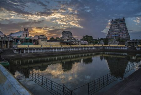 devotee: Ancient temple in South India