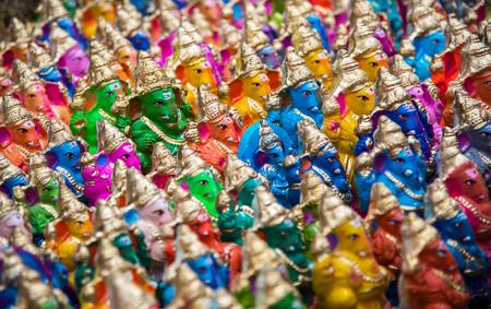 devotee: Famous Hindu god named Ganapti sold in the market at Chidambaram,Tamilnadu,India Stock Photo