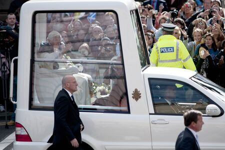 Edinburgh, Scotland, UK - 16 September 2010 - Pope Benedict XVI