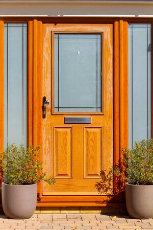 Bright modern and warm front door