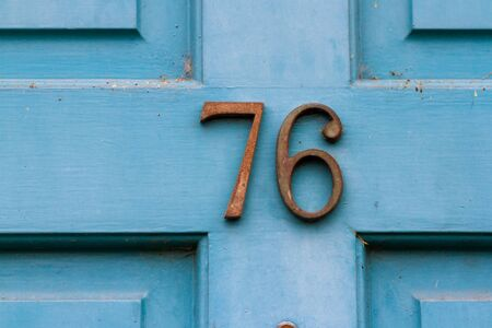 House number 76 Stock Photo