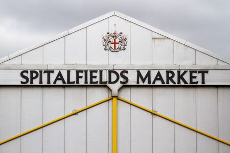 Exterior view of Spitalfield Market in London Imagens
