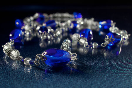 Blue elegant jewellery photo