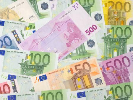 Euro money bank bills photo