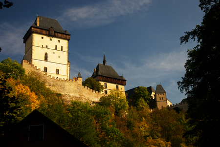 cz: Karlstejn - old historical castle in Czech republic, built by Czech King and Roman Emperor Charles IV Editorial