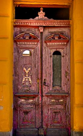Old beautiful door photo