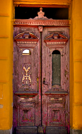 Old beautiful door photo