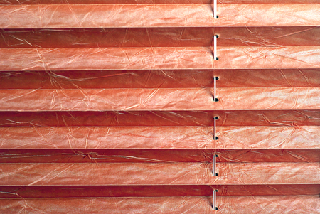 Pleated blind red