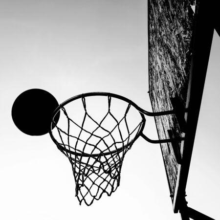 Concept of winning. Basketball basket scoring