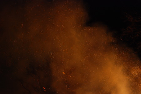 conflagration: conflagration Burning firefighters fire, people on fire Stock Photo