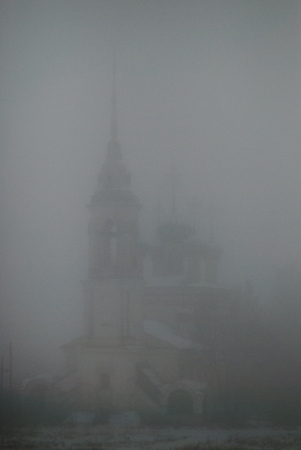 councils: Morning fog in the cityfog city councils monument beautiful blur the outlines of