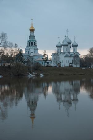 church steeple: Vologda Kremlin Stock Photo