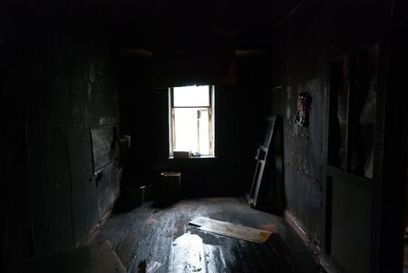 Image of dark concrete wall and floor Stock Photo