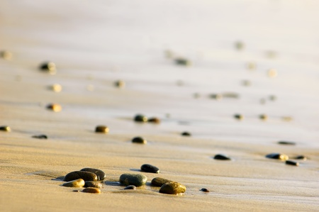 Stones on an ocean shore photo