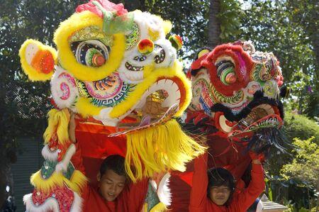 KOH SAMUI, THAILAND  - JAN 16:  Chinese New Year Celebration - Parade on the island's main street. January, 16, 2010 in Koh Samui, Thailand Stock Photo - 8722598